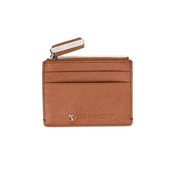 Sauro Cardholder - Camel Saffiano Leather - Handcrafted in Italy