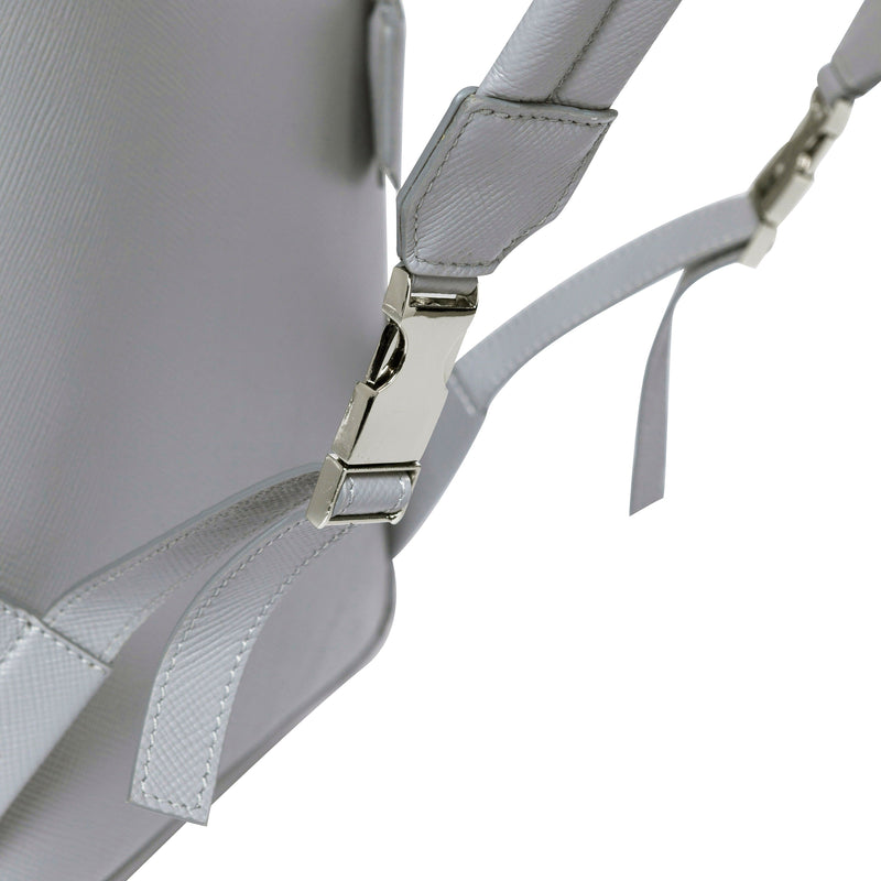 Skye Backpack Small - Light Grey Saffiano Leather