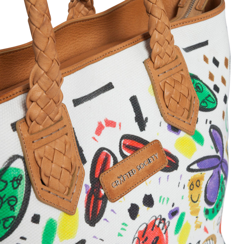 Tote - Selden Art Canvas & Vachetta Leather