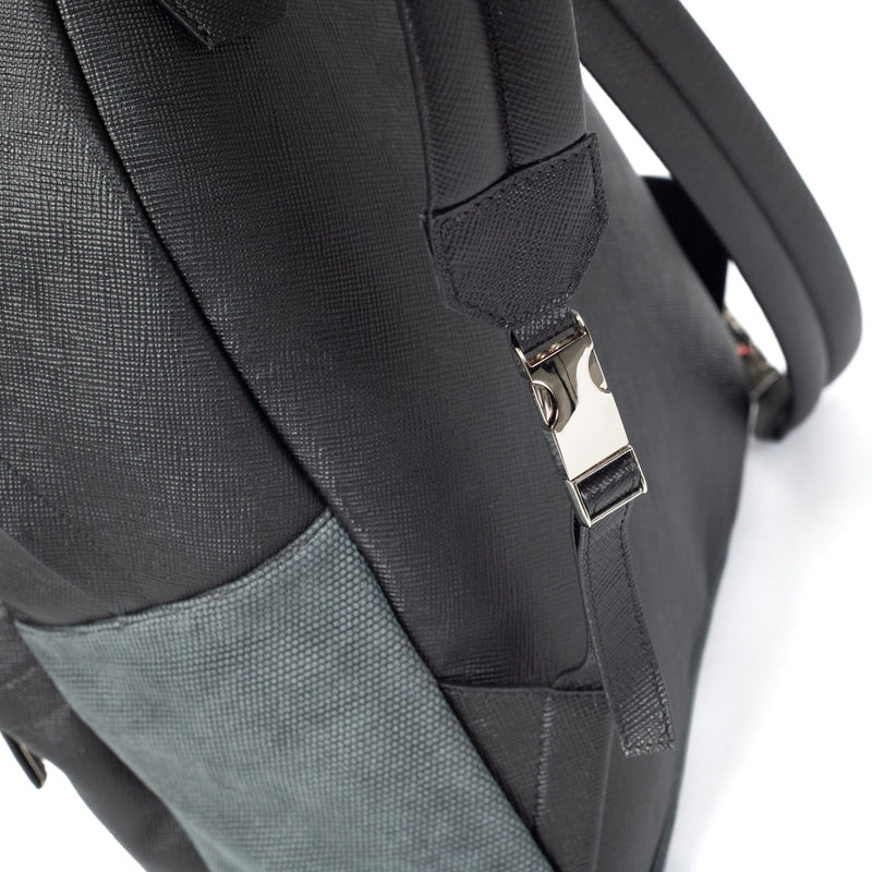 Astin Backpack Black Saffiano Leather Detail