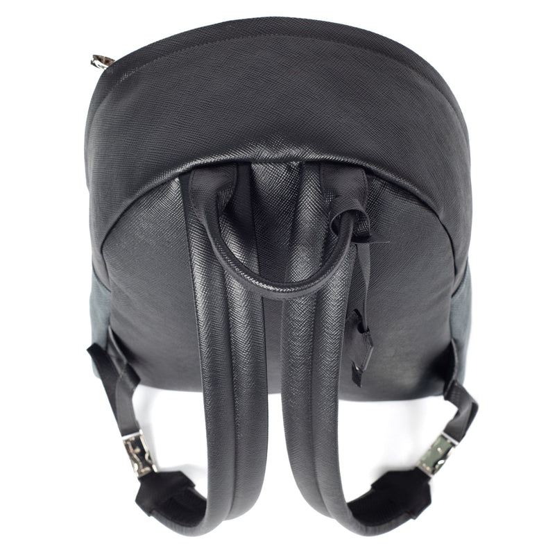 Astin Backpack Black Saffiano Leather Above