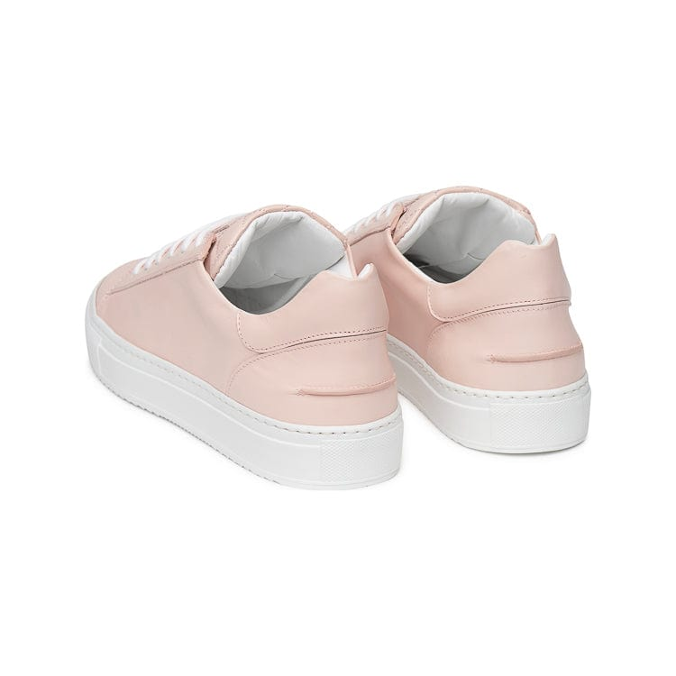 Betty Low Sporty Sneaker - Light Pink Full Grain Leather / White Outsole