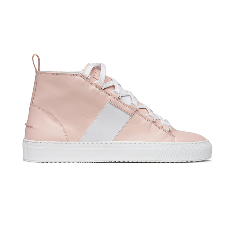 Betty Mid Sporty Sneaker - Pinkish Nude Full Grain Leather / White Outsole