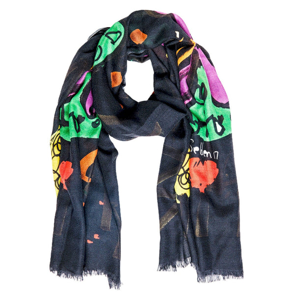 Bruna Scarf - Selden Art Cashmere - Black