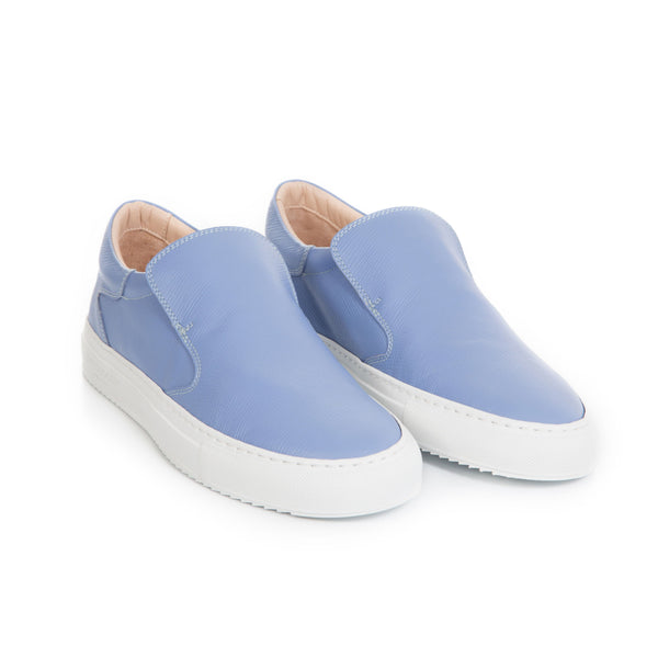 Como Slip-on Sneaker - Marche Blue Saffiano Leather / White Outsole