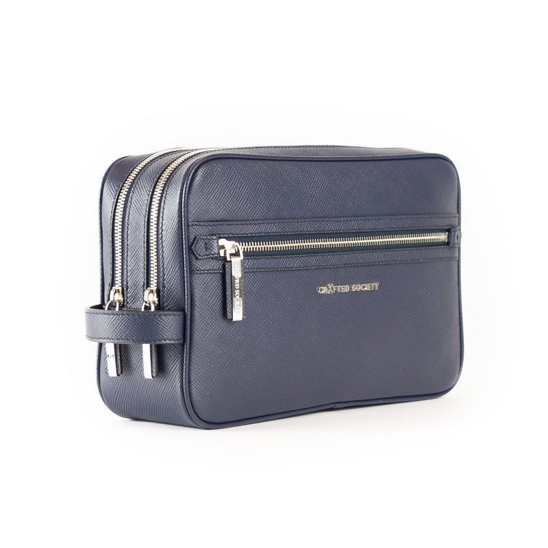 Edy Washbag - Navy Saffiano Leather