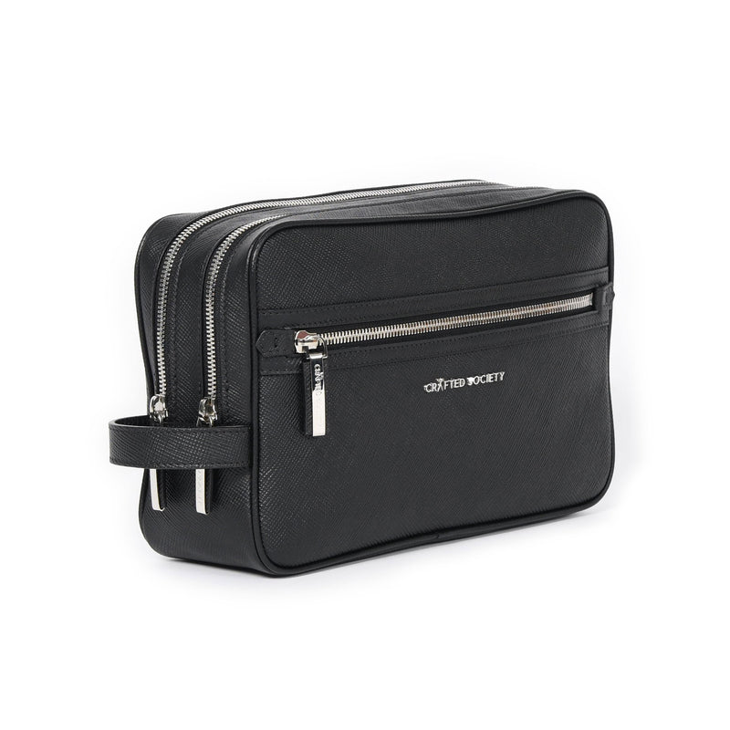 Edy Washbag - Black Saffiano Leather