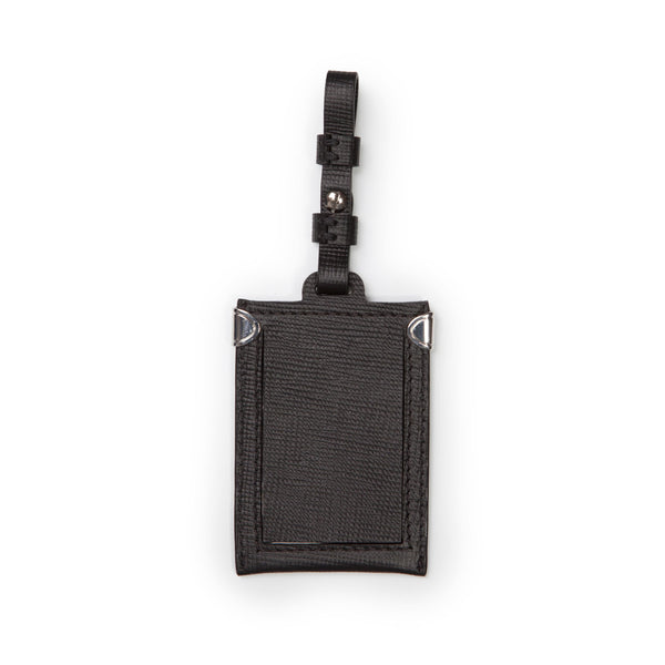 Luggage Tag - Black Saffiano Leather