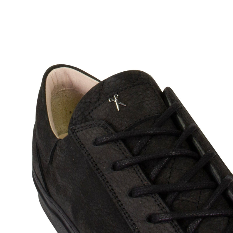 Mario Low Refined Sneaker - Black Nubuck / Black Outsole