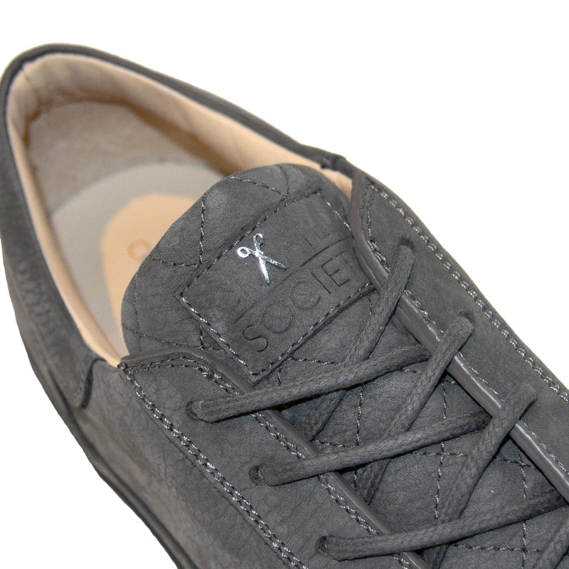 Mario Low Refined Sneaker - Dark Grey Nubuck / Dark Grey Outsole