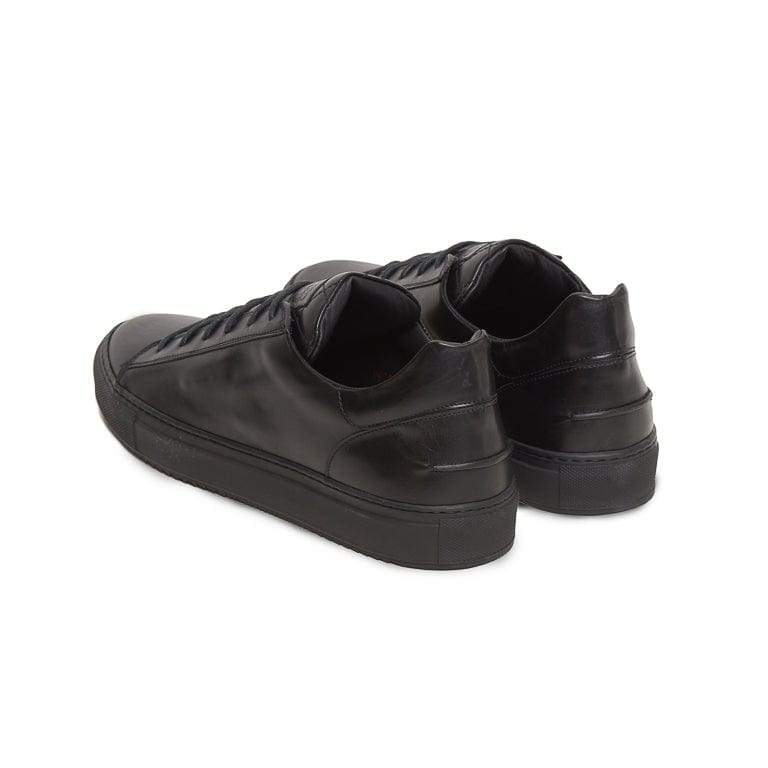 Mario Low Sporty Sneaker - Black Full Grain Leather / Black Outsole