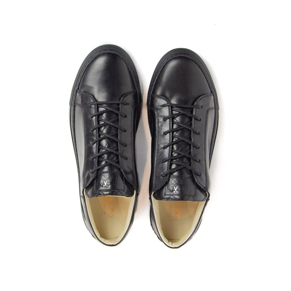 Mario Low Refined Sneaker Black Full Grain Leather Black Outsole