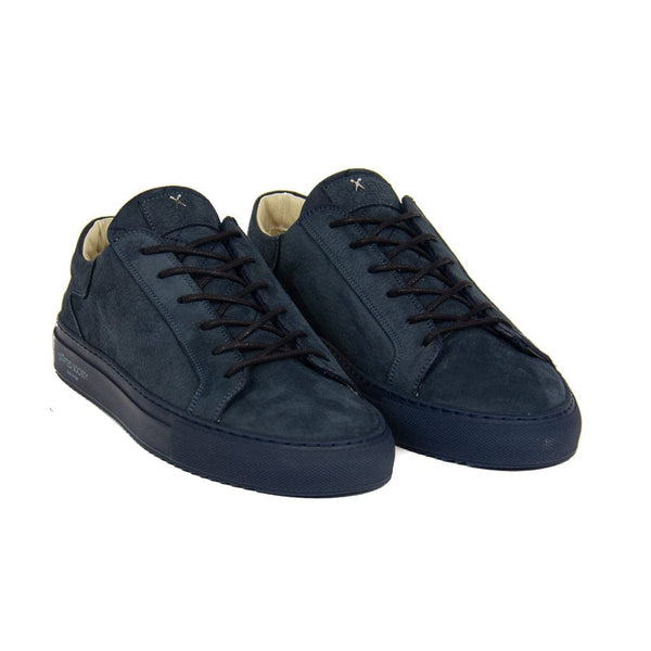 Mario Low Refined Sneaker - Navy Nubuck / Navy Outsole