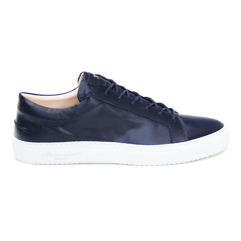 Mario Low Refined Sneaker - Navy Full Grain / White Outsole