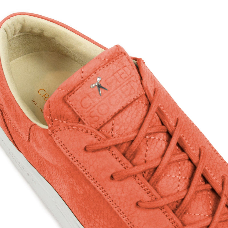 Mario Low Refined Sneaker - Coral Nubuck / White Outsole