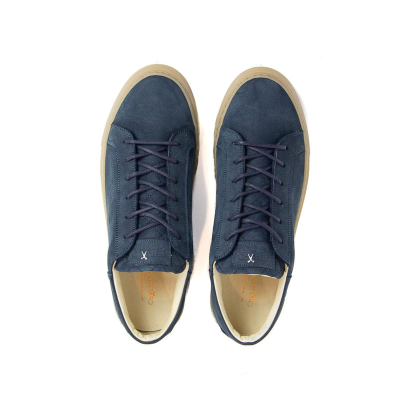 Mario Low Refined Sneaker - Navy Nubuck / Gum Rubber Outsole