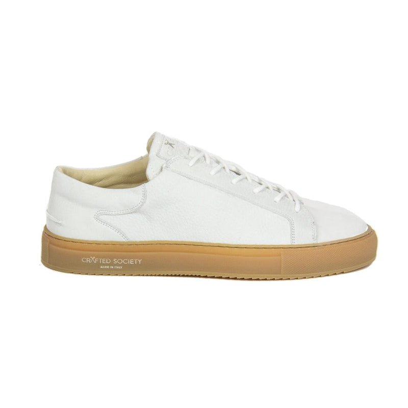 Mario Low Refined Sneaker - White Nubuck / Gum Rubber Outsole