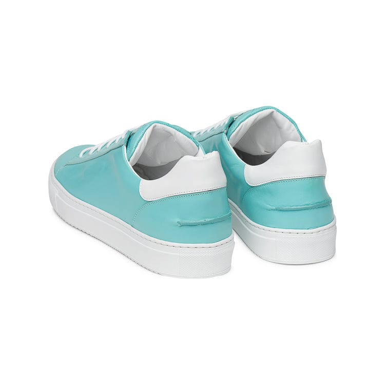 Mario Low Sporty Sneaker - Aqua Multi Full Grain Leather / White Outsole