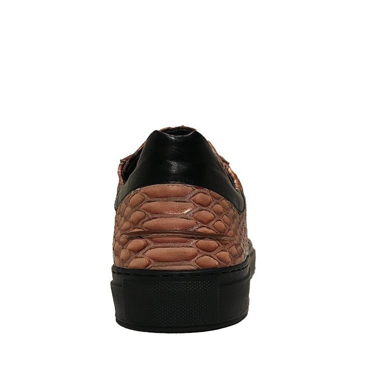 Mario Low Sporty Sneaker Copper Multi Full Grain Leather Black Outsole Backview