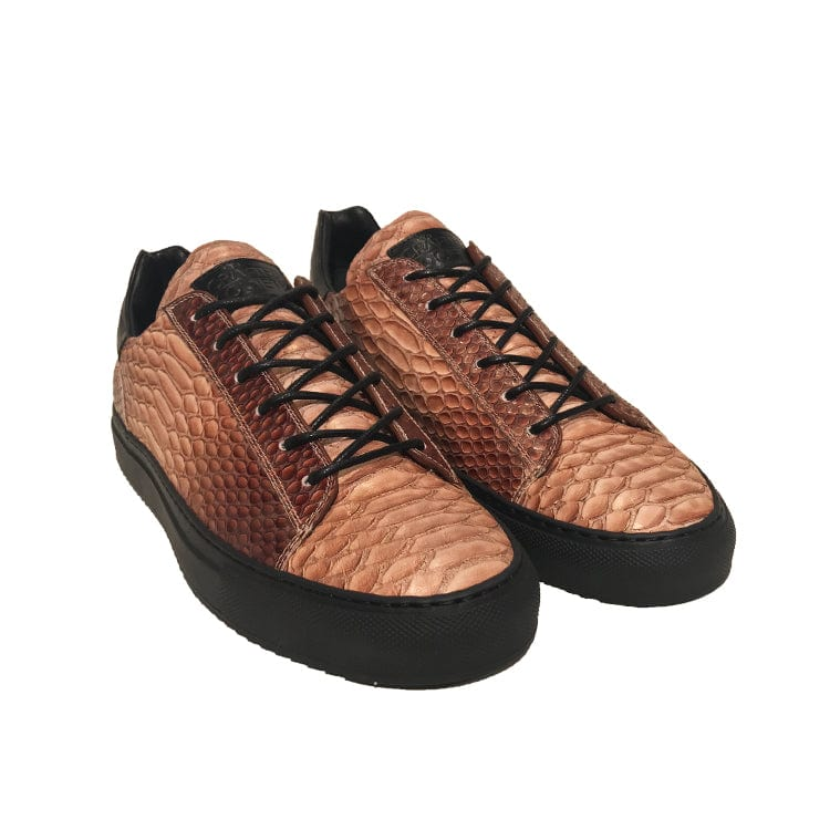 Mario Low Sporty Sneaker Copper Multi Full Grain Leather Black Outsole Frontview