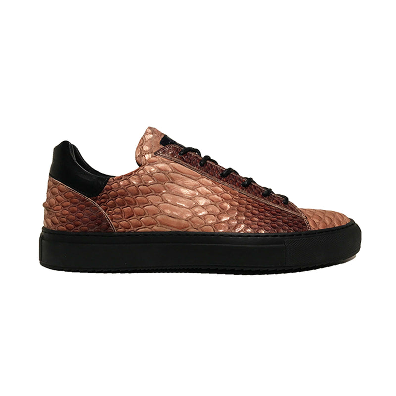 Mario Low Sporty Sneaker Copper Multi Full Grain Leather Black Outsole Sideview
