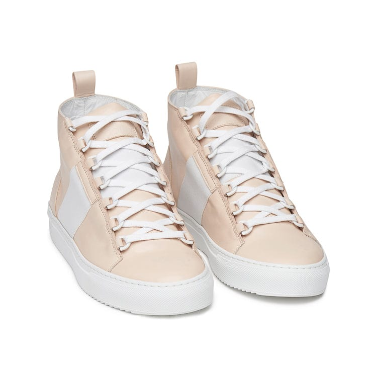 Mario Mid Sporty Sneaker - Tan Multi Full Grain Leather / White Outsole