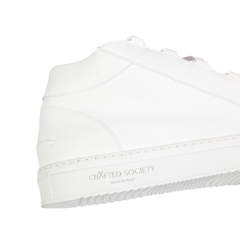 Rico Mid Sneaker White Saffiano Leather White Outsole Detailview