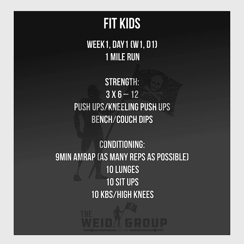 12 Week At Home BW/KB/DB 2.0 Adult AND Fit Kids Package