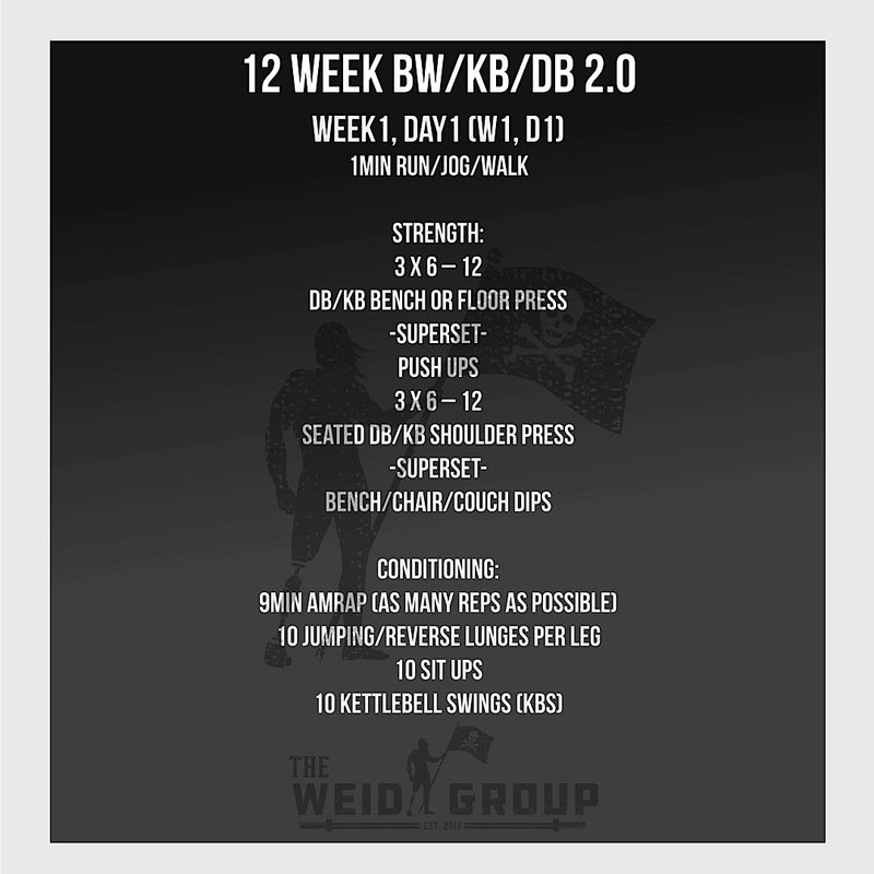 At Home 12 Week - Body Weight / Kettlebell / Dumbbell 2.0