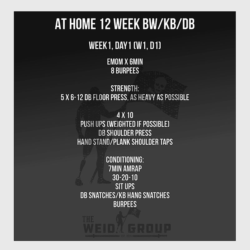 At Home 12 Week - Body Weight / Kettlebell / Dumbbell