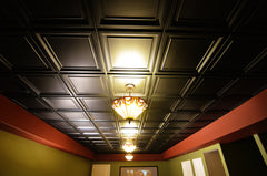 colored ceiling tiles - black