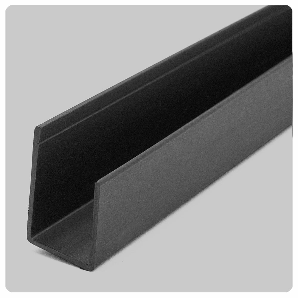 black direct mount ceiling grid track