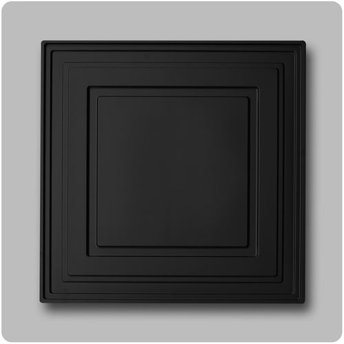 black ceiling tiles - 2'x2' PVC panels