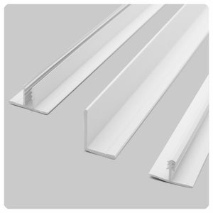 White Direct-Mount Ceiling Grid Kits