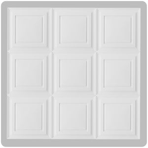 Sample White Mission Ceiling Tile 2' x 2' - Free Shipping