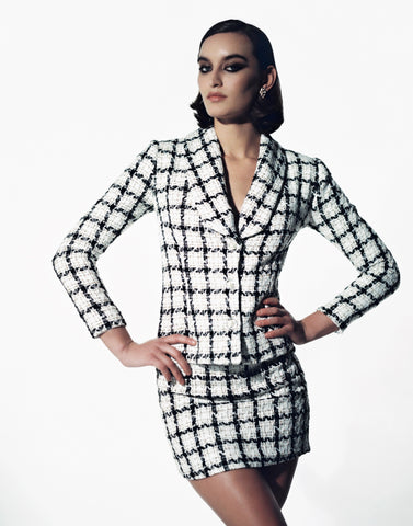 Stefania Vaidani Moon tweed jacket
