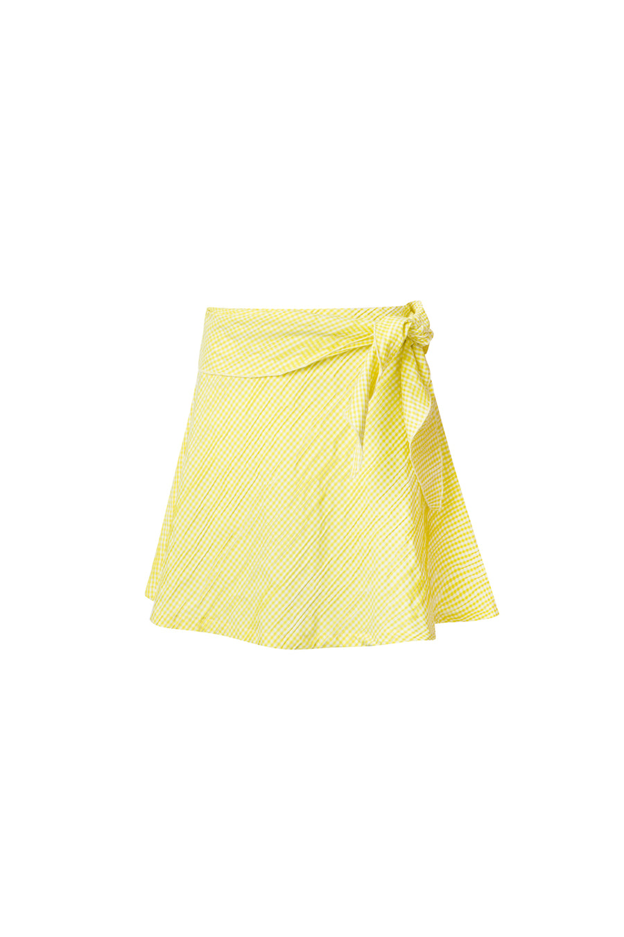 Yellow Vichy Mini Skirt