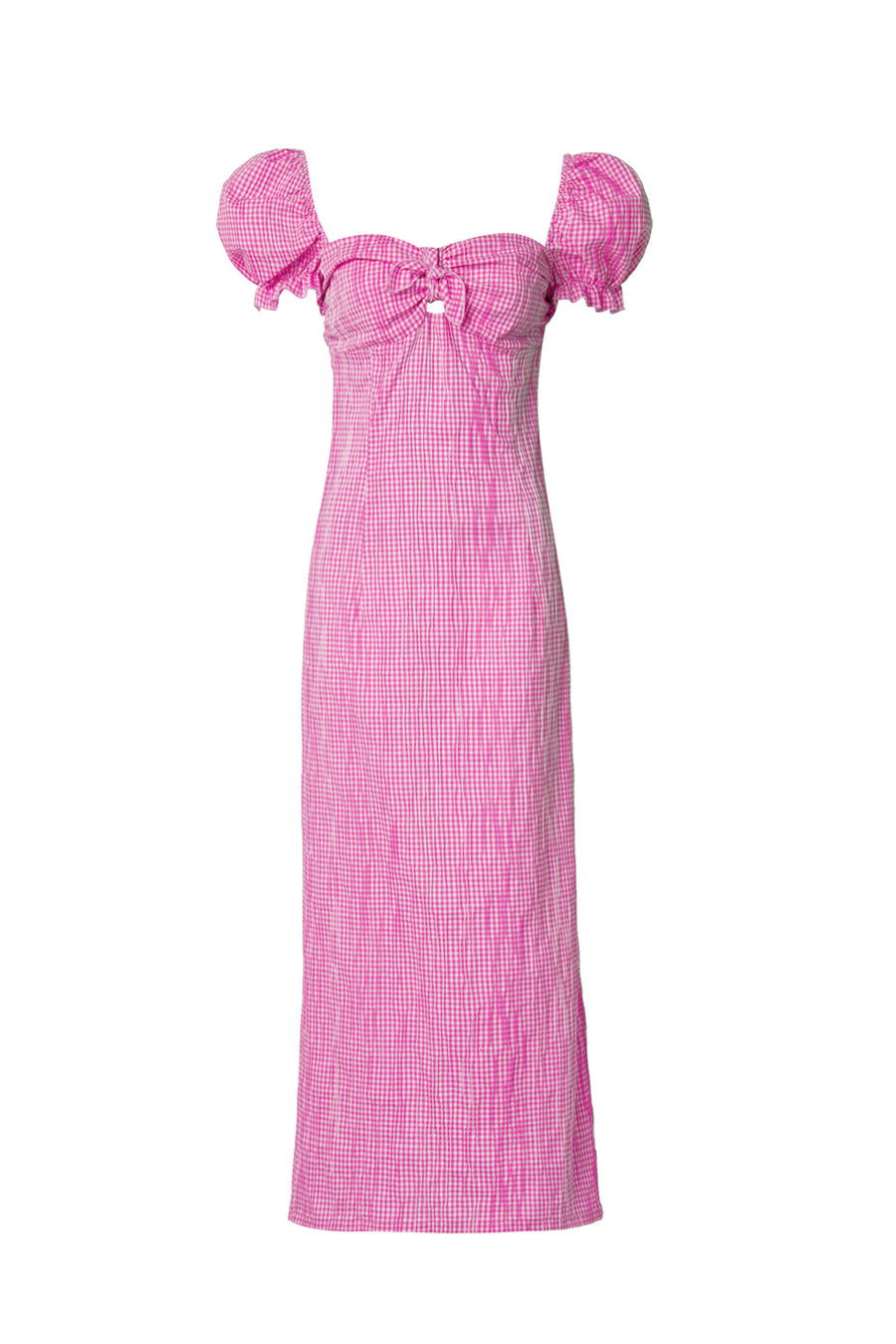 Pink Vichy Midi Dress