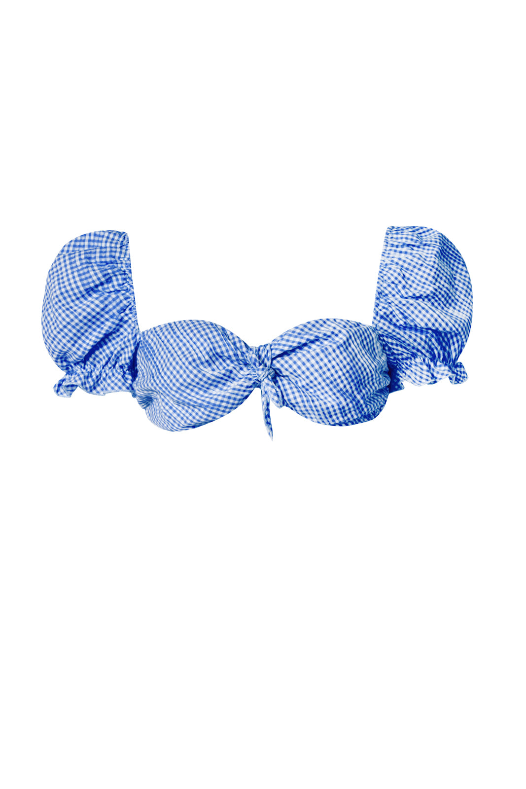 BABY BLUE VICHY CROP-TOP