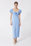BABY BLUE VICHY MIDI DRESS