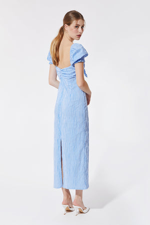 Vichy Blue Midi Dress