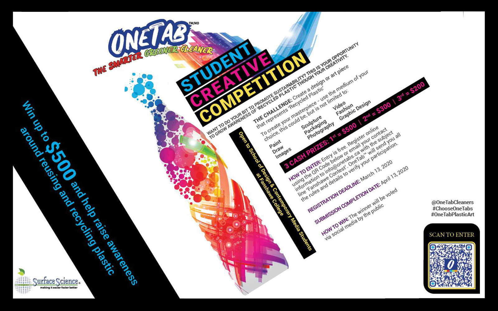 OneTab Launches Fanshawe Contest