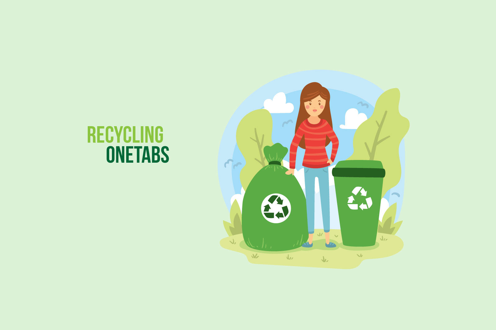 How to Recycle OneTab Packaging