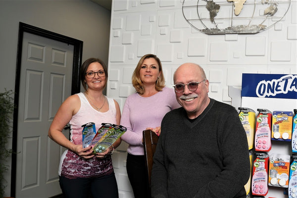 Don Hawken with marketing Vice President, Crysta Hammond, and account manager Sarah Brooks
