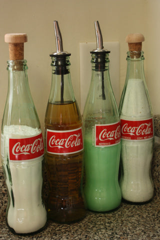 reused coca-cola bottle