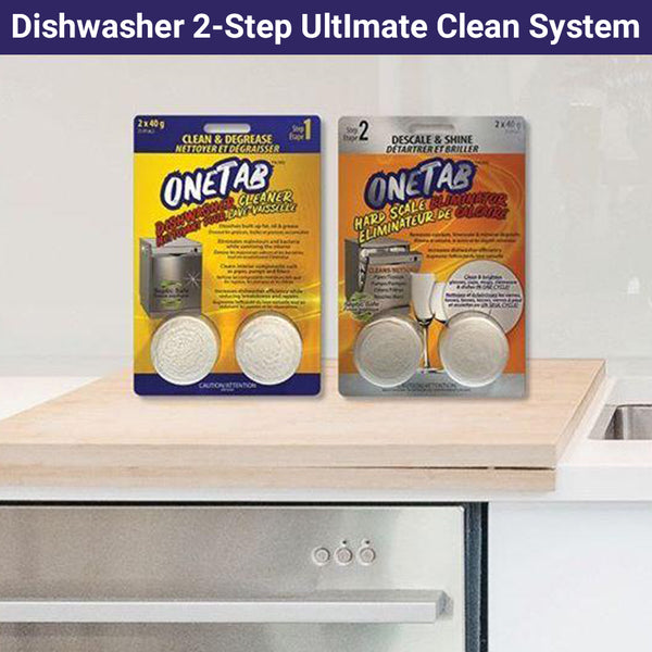 Dishwasher 2-Step Ultimate Clean System