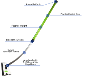 OneMop Telescopic Mop Pole | Patented Construction that works - from SurfaceScience