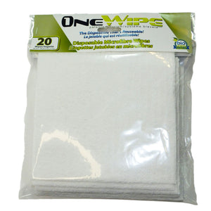 OneWipe Washable yet Disposable Microfibre Wipes | from SurfaceScience - 20 pack