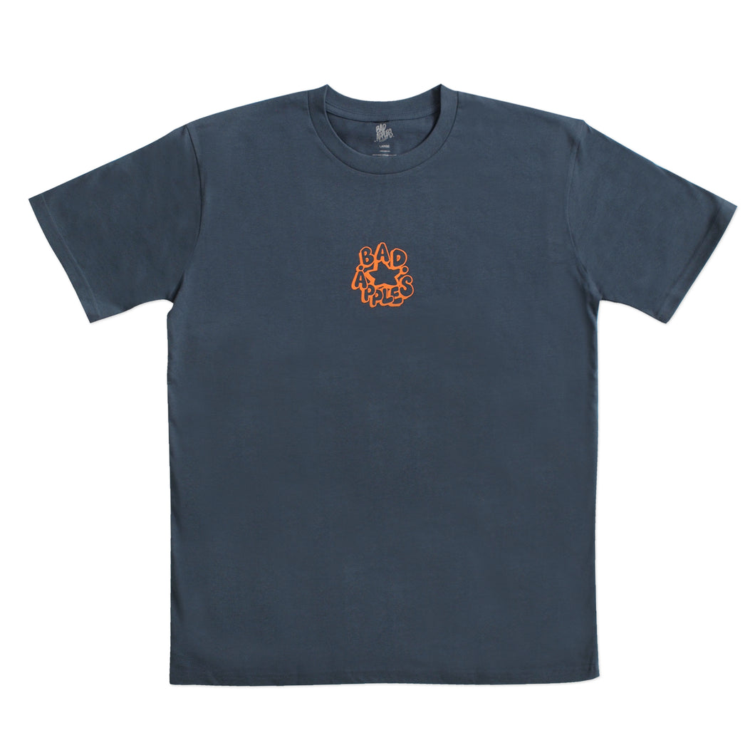FARIO STAPLE TEE PETROL BLUE