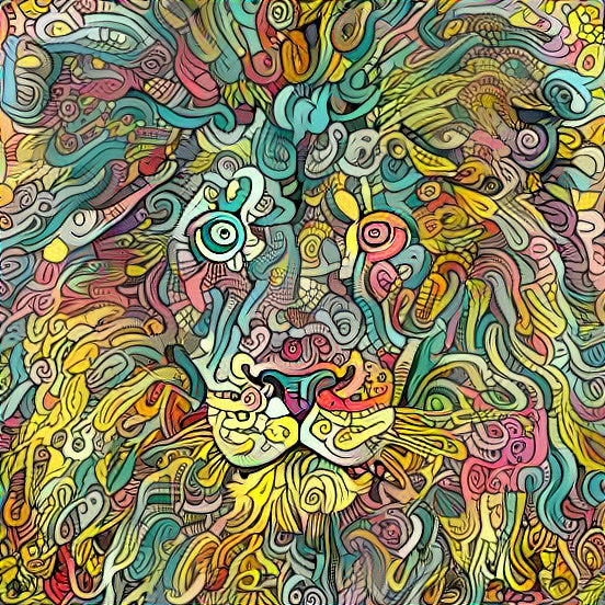 Lion Doodle - AI Generated Drawing